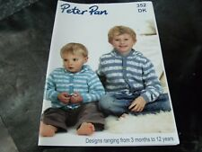 Peter Pan Double Knitting Pattern Book 352 3 Months to 12 Years