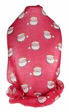 Damen Santa Weihnachten vintage Design Lange Schal Wickeln Weich Chiffon Geschenk