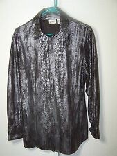 Chico's womens size 2 (large) top with reptile design