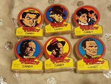 1991 Topps Dick Tracy 6 Candy Container Dispensers Flattop The Brow Rodent Big B