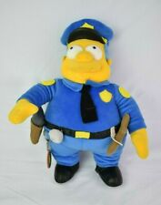 """Official Vintage The Simpsons Chief Clancy Wiggum 12"""" Plush Toy By Applause 2003"""