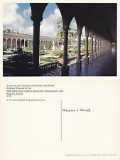 1980's MUSEUM OF ART SARASOTA FLORIDA UNITED STATES COLOUR POSTCARD