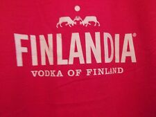 Finlandia Vodka red graphic XL t shirt bloody Mary