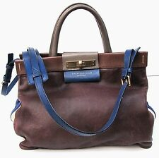 MARC BY MARC JACOBS COLOR BLOCK LEATHER SATCHEL SHOULDER BAG HANDBAG