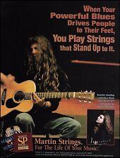 Aurora Rory Block 1997 Martin OM-28VR Guitar SP Strings ad 8 x 11 advertisement