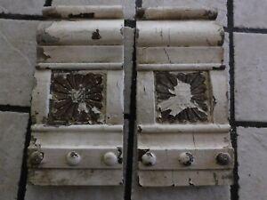 1890 Architectural Salvage--PLINTH BLOCKS--Pine--Victorian Floral Rosette--pair2