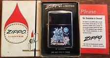 OLD VTG ZIPPO LIGHTER MOON LANDING 1969 USA HAHN & SCHAFFNER INC BOLIVAR NY