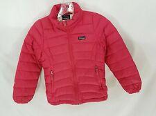 Patagonia Full-Zip Pink Raspberry Red Down Full-Zip Jacket Girls S 8