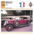 Renault 40 CV 6 Cyl. Torpédo 1923-1928 France CAR VOITURE CARTE CARD FICHE