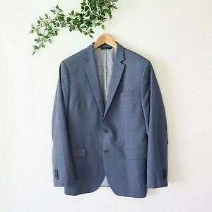 Banana Republic Men's Modern Slim Fit Lined Marzotto Wool Blazer Size 40R Blue