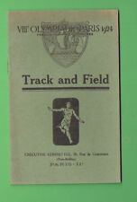 #D377. TRACK & FIELD  RULES & REGULATIONS  FOR 1924 PARIS  OLYMPIC GAMES