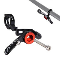 Bicycle Remote lever Shifter Seat post Dropper 22.2mm Black Aluminum alloy