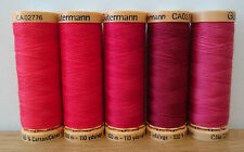 Gutermann Natural Cotton Sewing Thread 100m set of 5 - FN9 - Reds