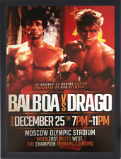 CLASSIC MOVIE ArtPrint ROCKY 4 Balboa vs Drago 420mm x 297mm Ltd Edt A3 Print