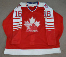 Vtg 80s Team Canada Game Worn Used Authentic Hockey Jersey Fight Strap Olympics