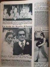 CLIPPING  NOELIA ALONSO MISS EUROPA RAQUEL WELCH INFANTA ELENA INFANTA CRISTINA