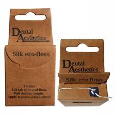 Silk Dental Floss ~ Natural, Eco, Biodegradable & 100% Plastic-Free ~ Mint, 25m