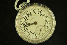 VINTAGE 16S ELGIN B.W. RAYMOND POCKETWATCH RUNNING!