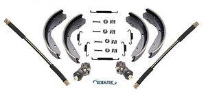 Front Brake Shoes Kit,Wheel Cylinders,Hoses,Hardware VW Super Beetle 1971-on