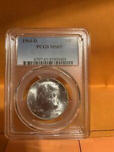1964-D Kennedy Silver Half, PCGS MS65, nice!