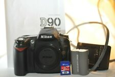 Nikon D D90 12.3 MP Digital SLR Camera ONLY Shutter count 14067 8 GB SD card