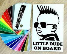 Little Dude On Board Car Sticker Vinyl Decal Adhesive Bumper Tailgate BLACK #2
