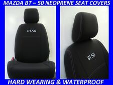 MAZDA BT-50 MK1 UP FRONT NEOPRENE SEAT COVERS FULL COVERAGE + MAP POCKETS X 4