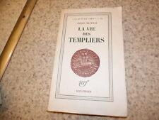 1951.La vie des templiers.Marion Melville (envoi)