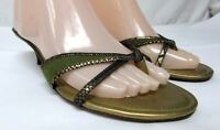 Cole Haan women's size 8 B  leather sandals  shoes slides med heel