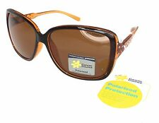 Cancer Council Women Polarised Sunglasses St Kilda Round Square Brown Rhinestone