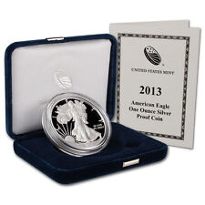 2013 W & 2014 W American Silver Eagle Proof 2 Coins W/Boxes & COA's