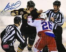 Adam McQuaid Boston Bruins Signed Autographed fight Vs Capitals Hendricks 8x10
