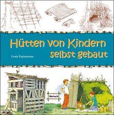 Welches Kind träumt nicht von einer selbstgebauten Hütte? Holz Laub Sträucher