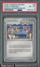 2006 Pokemon Promo World Champions #86 Mary's Request PSA 6 EX-MT