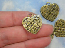 8 Heart Charms I Love You Bronze Tone Multi Language double sided #P1836