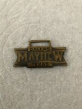 Rare Antique Watch Fob Mayhew Trucks 1940s Dallas Texas