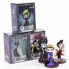 DISNEY / MALEFICENT, QUEEN QUEEN & CRUELLA DE VIL / Q POSKET / 3 FIGURES SET