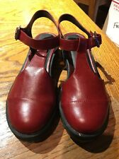 ASOS Red Flat Mary Jane Platform Ankle Straps  Shoes Size 40/ 9