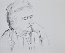 Guy Bardone - Dessin original - Encre - Portrait de René Genis