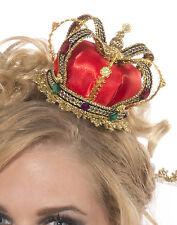Mini Queen Crown Hat Queen Of Hearts Fairytale Women Halloween Costume Accessory