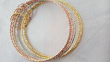 2 PCS  Beautiful 18K Gold Plated Imitation Bracelet Bangle 6 Set Pack Women