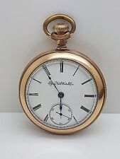 Vintage Elgin 18 Size Pocket Watch Made in 1888 Grade 73 Providence W.C. Case 4E