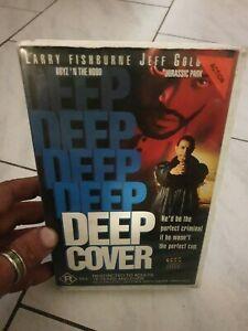 RARE VHS DEEP COVER Big Box Ex-Rental Video Tape Jeff Goldblum