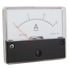 Einbau Messinstrument 0 - 15 A DC, Messgerät, Analog Amperemeter mit Shunt