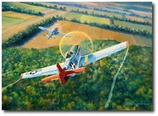 The Color of Courage by Rick Herter -  P-51C Mustang, German Focke-Wulf 190