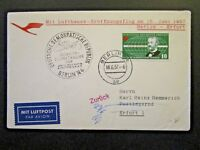 Germany DDR 1957 Berlin / Erfurt Flight Cover - Z4712