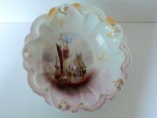 Antique German RS Prussia SAILING SHIPS Lustre Bowl