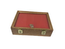 Oak Wood Display Case 9 X 12 X 3 For Arrowheads Knifes Collectibles Amp More