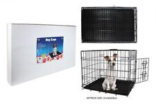 NEW!! SMALL BLACK METAL DOG, PUPPY CAGE, BED,  CARRIER, TRANSPORT, TRAINING