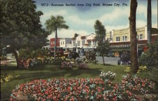 Haines City FL Business Section Linen Postcard